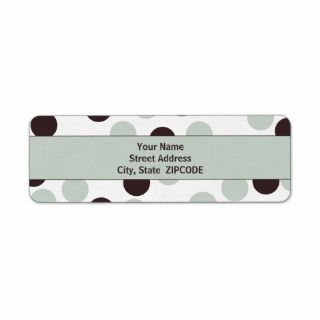 Pastel Green and Brown Polka Dot ADDRESS Labels