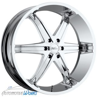 20x9 Milanni Kool Whip 6 5x120 65 5x4 75 0mm Chrome Wheels Rims inch