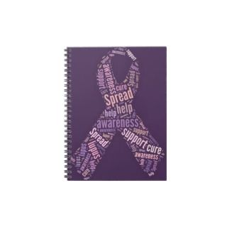 Lupus Ribbon [typography] Spiral Note Books