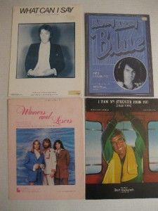 Sheet Music Lot 23 Pieces Cheap Trick Neil Diamond Kris Krist