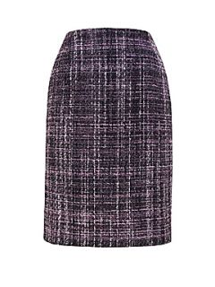 Eastex Purple tweed pencil skirt Purple