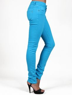 TAKESHY Kurosawa D1147 Turchese Skinny Blue Woman Jeans Women