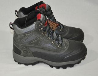 New Kodiak Mens Boulder Winter Boots Waterproof Thermolite Gray Black