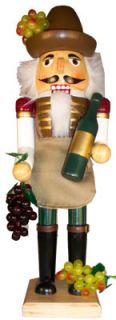 Wine Farmer Grower Wooden Christmas Nutcracker New