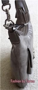 New with Tag Coach Kristin Patent Leather Hobo Bag Shoulder Bag Silver