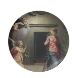 Annunciation by Giovanni Bizzelli Party Plates