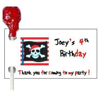 108 Pirate Birthday Party Candy Wrappers Favors