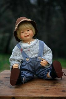 GOTZ 19 Boy Doll by Susi Eimer KRISTIAN So Cute, you cant help but