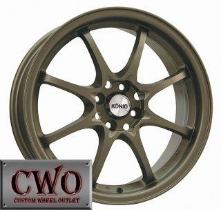 15 Black Konig Helium Wheels Rims 4x100 4 Lug Civic Mini XB Cobalt
