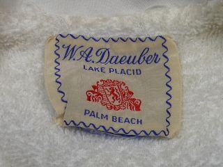 VINTAGE 60s W.A. DAEUBER TERRY CLOTH HAWAIIAN ALOHA MARLIN PRINT