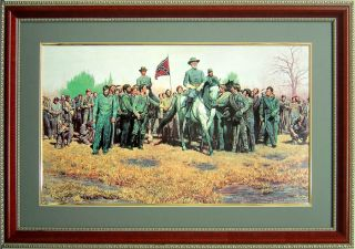 General Lee Confederate Army by Mort Kunstler Framed Art Poster