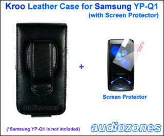 Black Leather Case Cover for Samsung YP Q1 YPQ1 4GB 8GB 16GB + Screen