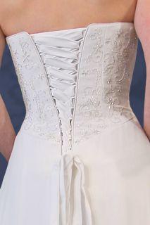 Kylie BEACH Wedding Dress Gown Strapless Corset Size 14 White   Brand