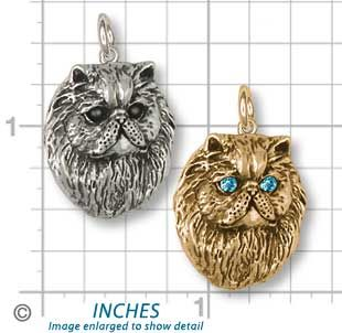 Persian Cat Jewelry Silver Persian Cat Charms PS5C