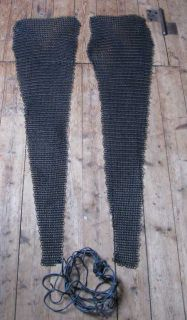 Matching our good quality blackened chain mail shirts we are offering