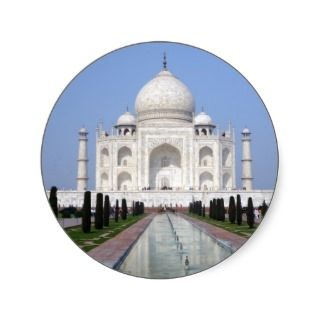 Taj Mahal, Agra, India Round Sticker