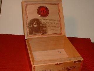 La Aurora Sirie Anniversario 107 Wood Cigar Box Dominican Republic