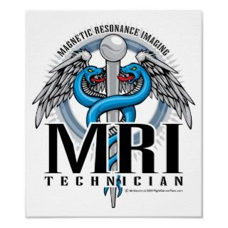 MRI Tech Caduceus Print