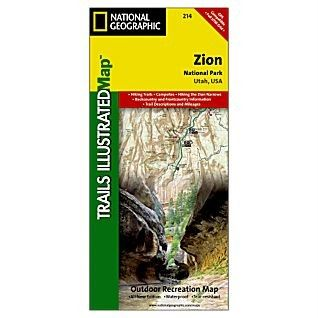 Zion NP Trails Illustrated Map National Geographic