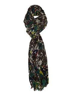 Marella Ignazio printed scarf Brown