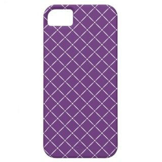 Purple with White Quilted Pattern iPhone 5 Case