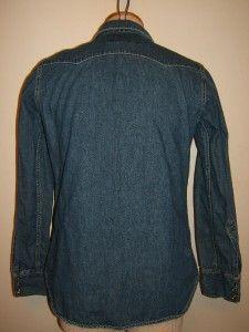 Womens Western Sawtooth Denim Shirt Medium Woman Lady levis Red Tab