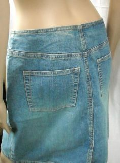 New Ann Taylor Loft Short Button Fly Denim Skirt 8 Medium Wash