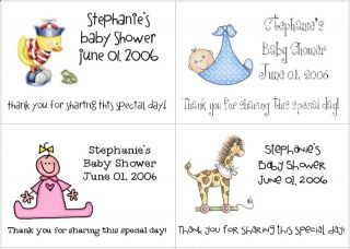 This auction is for 32 Baby Shower Labels/Stickers Party Favors