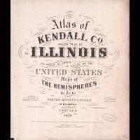 1870 Kendall County Plat Map Illinois Old Genealogy History Atlas Land