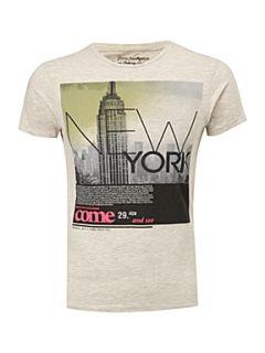 Jack & Jones Short sleeved graphic T shirt White