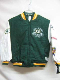 NFL Youth Packers Sbowl Varsity Jacket Jersey Small 8