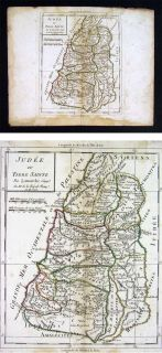 1795 Delamarche Map Judea or Holy Land Palestine Israel Jerusalem Dead