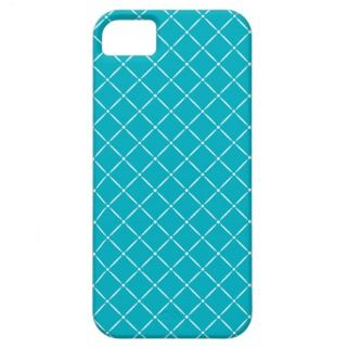 Bright Blue with White Quilted Pattern iPhone 5 Cover
