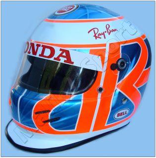 Jenson Button Lucky Strike BAR Honda Full Scale Replica Helmet 2004