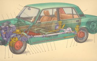 Old Service Manual Guide Russian Lada Vaz 2105 Car