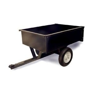 New 10 Cubic ft Lawn Yard Landscaping Mower Tractor Mulch Dumpcart