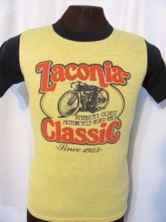 Vintage Laconia Classic Motorcycle Race Ringer 70s Retro Harley T