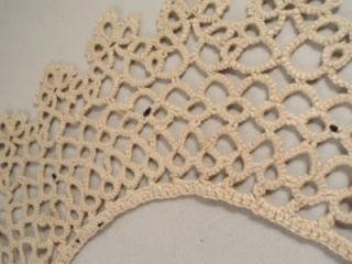 Antique Vintage Tatted Handmade Lace Collar Cream Beautiful Estate