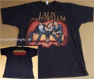 Adult Lady Antebellum 2 Sided Concert Tour 2010 Shirt L Large Need You