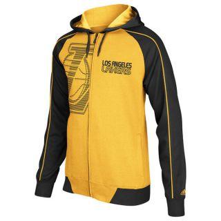 Los Angeles Lakers Sz L NBA Pindot Full Zip Fleece Hoody