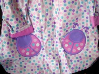Totes Girls Ladybug Dot Raincoat New Lined Pink Purple