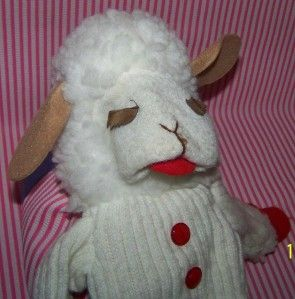 Large Lamb Chop Hand Puppet Approximately 18 Shari Lewis 1993 RARE