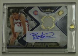 SPx FLASHBACK FABRICS Authentic Game Used Jersey Patch BILL LAIMBEER