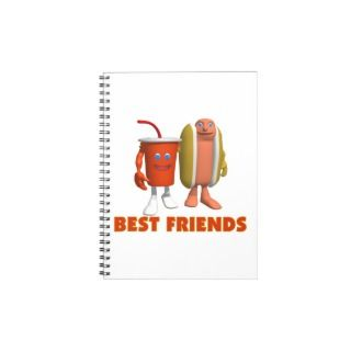 Best Friends Hot Dog & Soda Spiral Note Book