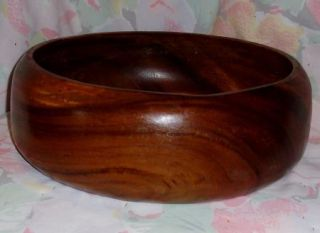 Natural Wood Wooden Bowl Salad Centerpiece Large Collectible Wood Bowl