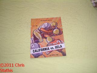 vs California Golden Bears Football Game Program Craig Morton
