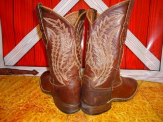 Womens Larry Mahan All Leather Cowboy Boots Sz 8 5 M