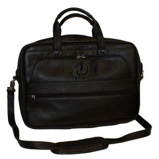 Redskins NFL Collection Debossed Black Leather Laptop Notebook Bag