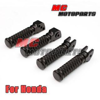 Black Silver Honda Front Rear Foot Pegs Kit Set VFR 400 90 92 VFR 800