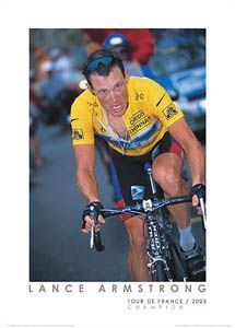 Lance Armstrong Tour de France 2003 Champion Cycling Poster Print